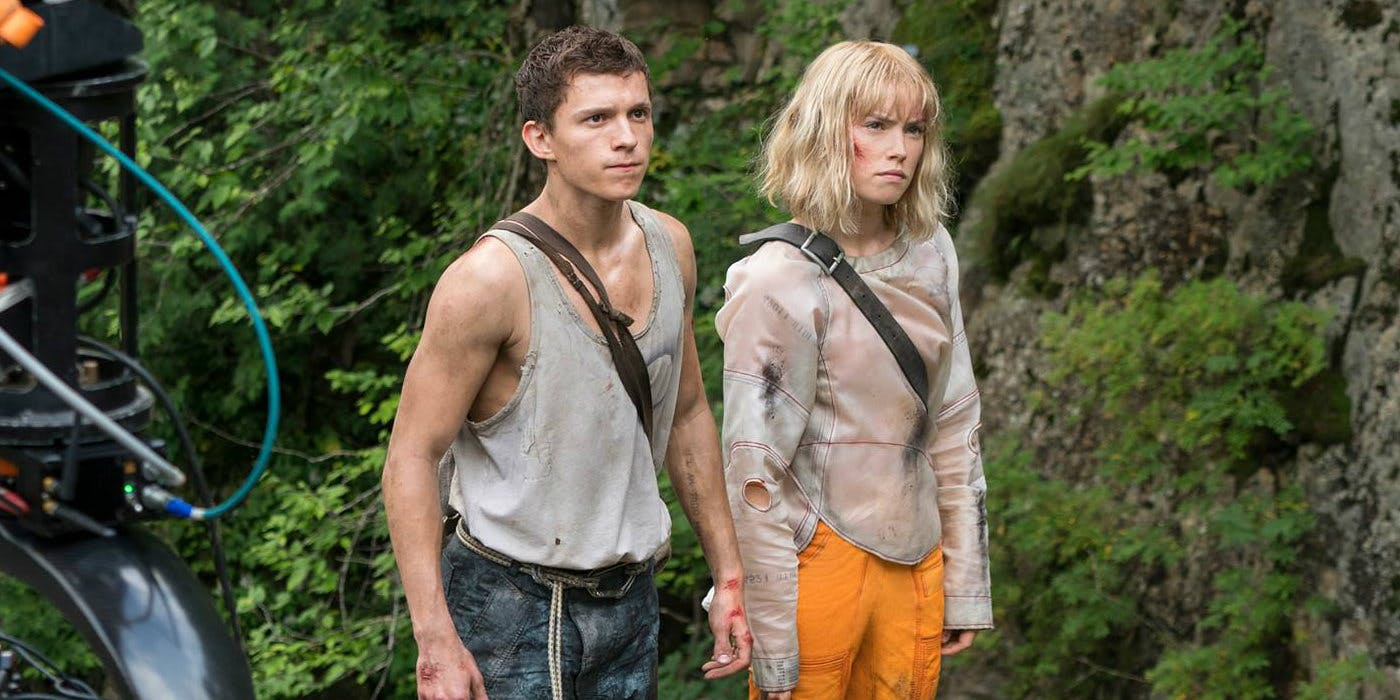 Tom Holland and Daisy Ridley in 'Chaos Walking'