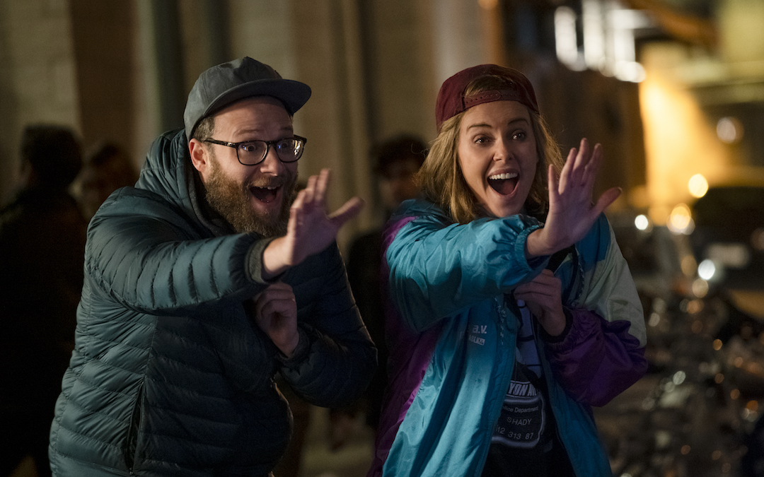 Seth Rogen and Charlize Theron let loose in new romantic comedy 'Long Shot' (Credit: Lionsgate)