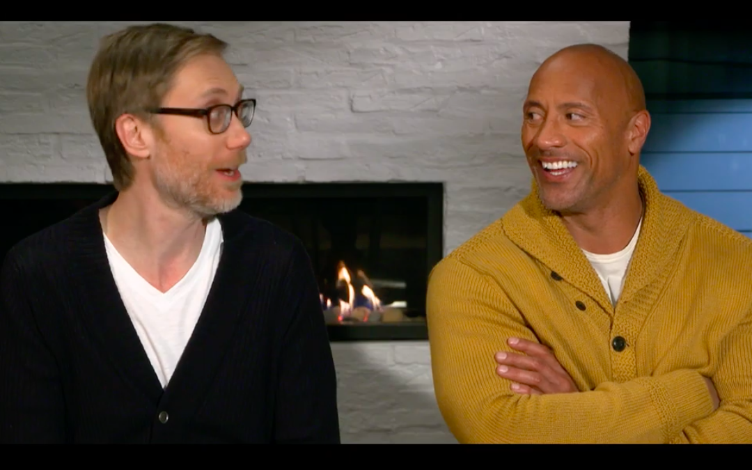Exclusive Dwayne Johnson Stephen Merchant Fighting With