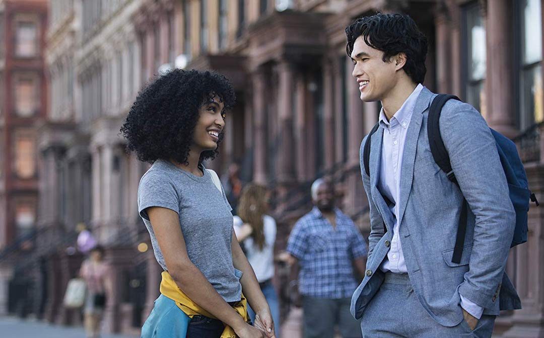 Yara Shahidi and Charles Melton in 'The Sun is Also a Star' (Credit: Warner Bros.)